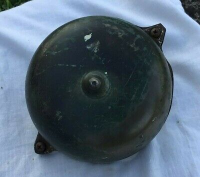 Vintage Victorian Hand Crank Door Bell brass and cast iron