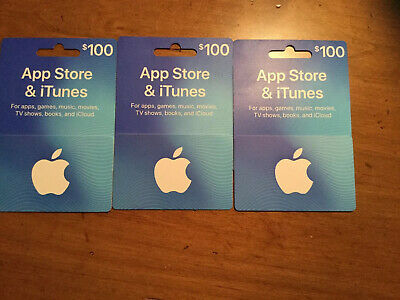 App Store & ITunes $100 Physical Gift Cards, New, Buyer Has Purchase Receipts