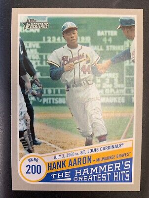 2019 Topps Heritage - The Hammer's Greatest Hits THGH-5: Hank Aaron HR #200