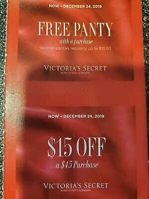 2 sets Victoria Secret Panty w a purchase/$15 off a $45 purchase