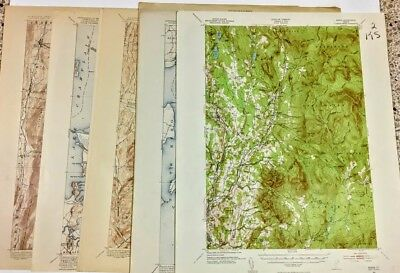 Your Choice of Vermont Maps1893 - 1956 Editions  Quadrangle Topography  Vintage