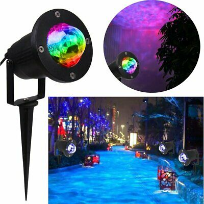 RGB LED Water Wave Ripple Effect Stage Light Lighting Laser Projector Xmas Lamp