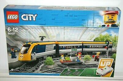 Lego City 60197 Passenger Train Yellow Blue RC Toy Bluetooth App IOS Android NEW