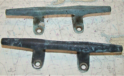 Pair Antique Bronze Herreshoff Style Cleat 8""