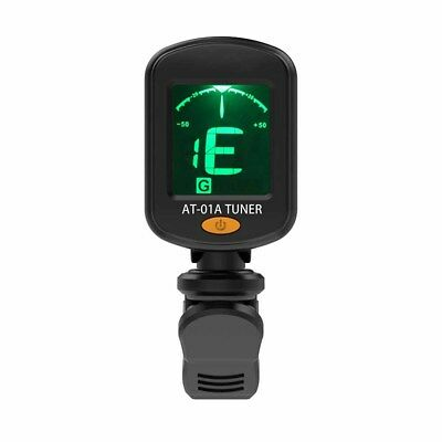 LCD Electric Guitar Tuner Clip-on Chromatic Acoustic Bass Ukulele Violin banjo C