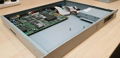 AMIGA 1200 V3.0 Motherboard in 1RU metal rack mount case and floppy drive RARE!
