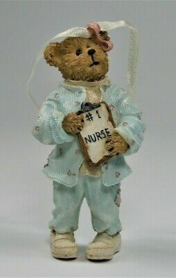 "GANZ 3/"" #1 NURSE BEAR CHRISTMAS ORNAMENT"