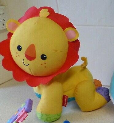 Fisher Price Baby Plush Lion - Laughs, Roars, Strolls To Music - 2015