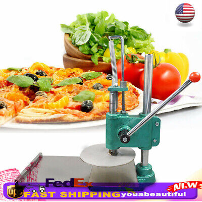 "9.5"" Household Manual Pastry Press Machine Pizza Dough Maker Stainless Steel NEW"