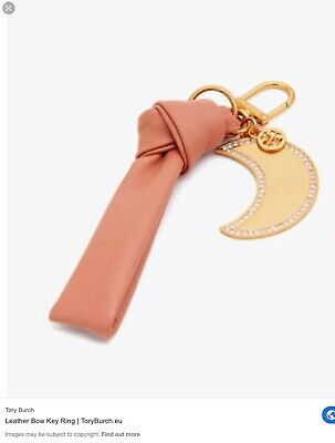 Tory Burch Leather Bow Key Ring Soft  Pink