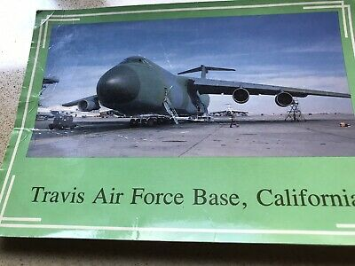 Vintage Postcard Travis Air Force Base California USA Plane 1960s C-5A Galaxy