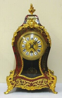 French 8 Day Boulle Work Mantel Clock - £895