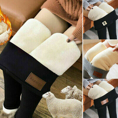 Women Ladies Thermal Winter Leggings Fleece Lined High Waist Slim Trousers Pants