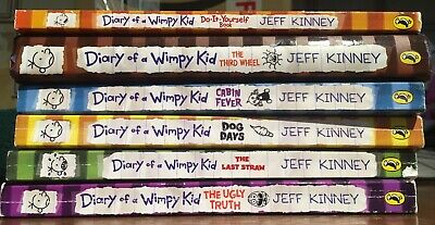 Diary of a wimpy kid books Bundle Cabin Fever,The Ugly Truth,Third Wheel,Dog Day