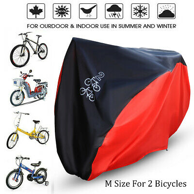 M Waterproof Mountain Bike Bicycle Cover Outdoor Rain Dust Protector for 2 Bikes