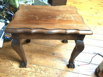Small Ball/Claw Foot Coffee/Occasional Table/Foot Stool Darkwood Good Quality Gc