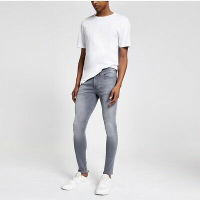 River Island Ollie Spray On Skinny Jeans  28W 30L Brand New Without Tags Rrp £40