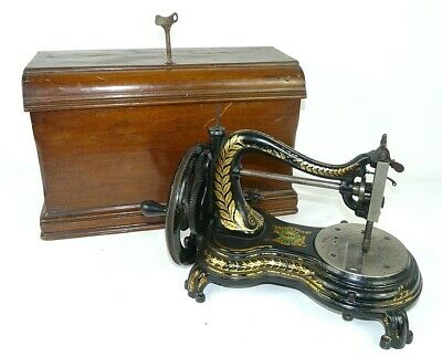 "Antique ~ c1880 ~ Swan Neck Sewing Machine Manufactured By ""Jones"""