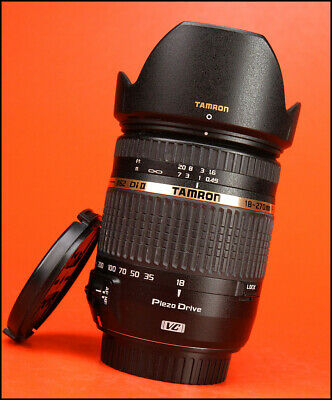 Tamron 18-270mm f3.5-6.3 Di II VC PZD Zoom Lens Canon Sold With Both Caps & Hood
