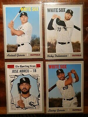 2019 Topps Heritage White Sox 16 card Lot- inserts, High No.