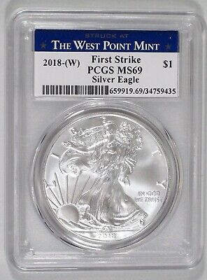 2018-(W) American Silver Eagle West Point Mint First Strike PCGS MS 69    435
