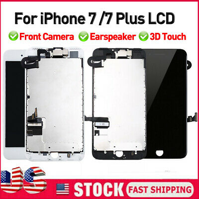 OEM For iPhone 7 7 Plus 3D Touch Full LCD Screen Replacement Pre-Assembly Camera