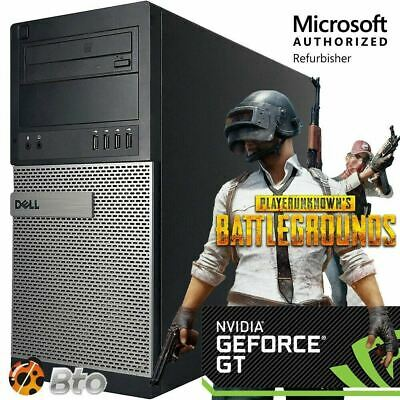 Fast Dell Gaming Computer PC Quad Core i5 8GB 1TB Nvidia GT1030 Win 10 HDMI WiFi