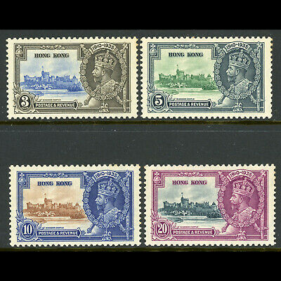 HONG KONG 1935 Silver Jubilee. SG 133-136. Lightly Hinged Mint. (WD228)
