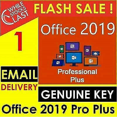 Microsoft Office Professional Plus Pro 2019 Lifetime License 30s Delivery