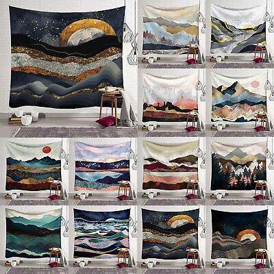 Mountain Ocean waves Japanese Large Tapestry Art Wall Hanging Throw Home Decor