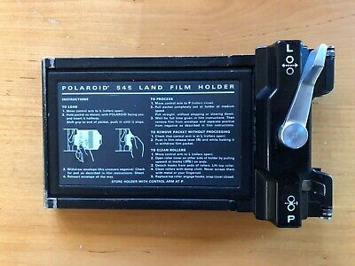 Polaroid 545  4X5  Land Camera Film Holder, very good cond, one owner, fast ship