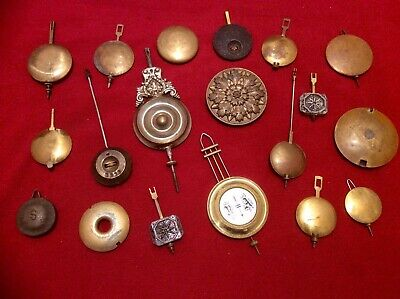 Antique Mantle Clock Pendulum Bob Job Lot,Brass,Cast Metal,Ornate,Large,Bronze