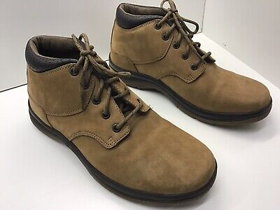Mens Marks And Spencer Brown Leather Airflex Boots Size Uk 7- Worn Once Indoors.