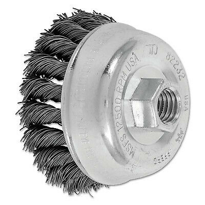 "3-1/2"" Knot Wire Cup Brush .020 Cs Wire 82232  - 1 Each"