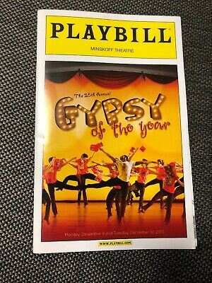 The 25th Annual Gypsy of the Year Broadway Playbill December 2013