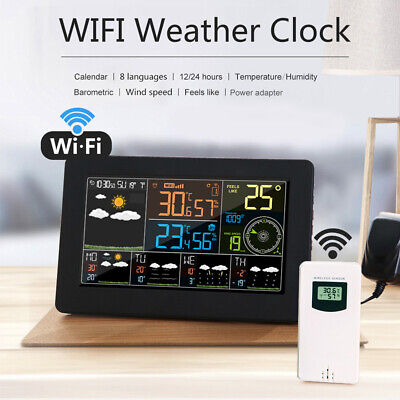 Wireless Color Digital Weather Station Barometer Thermometer With Sensor D2X6