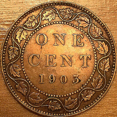 1903 Canada Large Cent Penny Large 1 Cent Coin