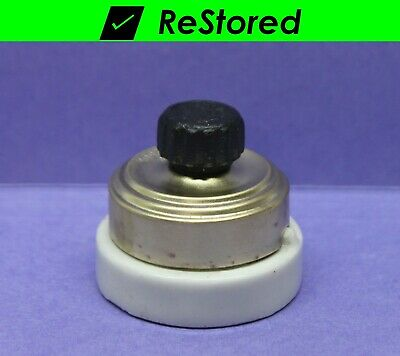 ⭐ Vintage Rotary Light Switch - Brass/Porcelain Round Single-Pole Turn Perkins