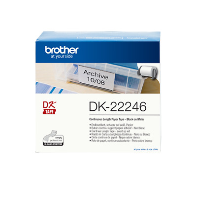 3x Genuine Brother DK-22246 DK22246 103mm Continuous Label Roll for QL1100NWB