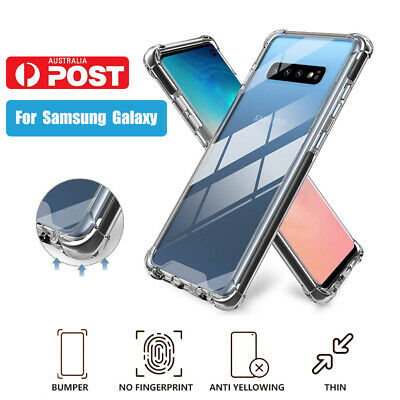 Samsung Galaxy S8 S9 S10 Plus Slim Clear Cases TPU Bumper Cushion Cover