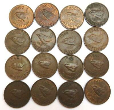 Complete Collection Of George VI Farthings 1937-1952.
