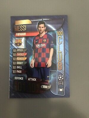Topps Match Attax 19/20 Champions League - Lionel Messi 100 Club