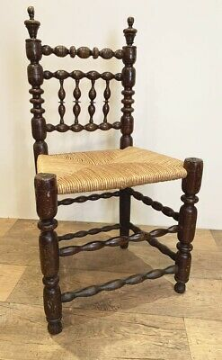 19Th Century Bobbin Chair With Rushed Seat