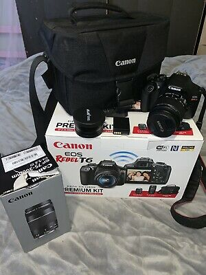 Canon EOS Rebel t6 digital slr camera Kit With Xtra Wide Angle Macro Lens