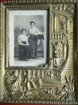 Antique Frame Door Photo Brass Regrowth Signed: Arthus-Bertrand Frame Picture