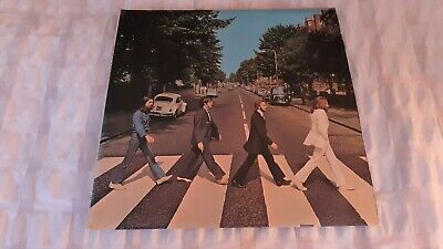 The Beatles 'Abbey Road' 1969 vinyl LP Misaligned Apple No 'Her Majesty' VGC