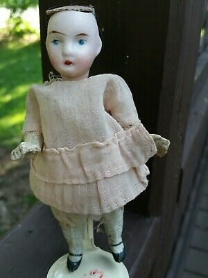 Antique Bisque Doll Germany Penny Doll Dollhouse Miniature, 39/13