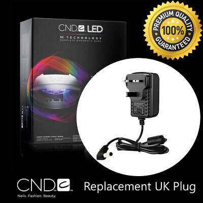CND BRISA Nail Lamp Replacement Lead UK Plug AC Adaptor Wire Cord LED Light