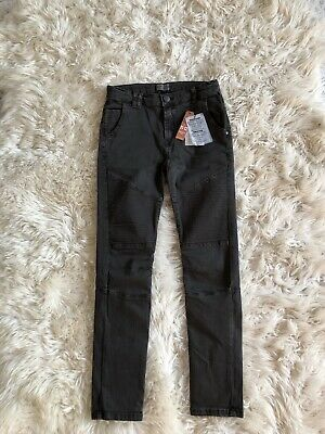 Zara Boys Motorcycle Skinny Jeans Faded Black Size 11-12 Years