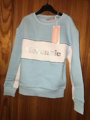 Girls Mckenzie Sportswear Top Age 8-10 Years New Tags Sweatshirt Jumper Blue